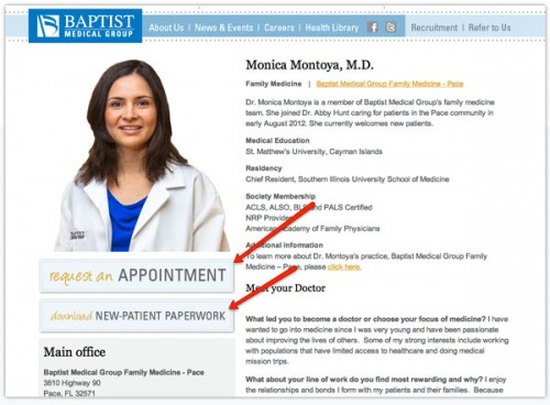 Website calls to action