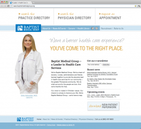 Baptist Medical Group website design