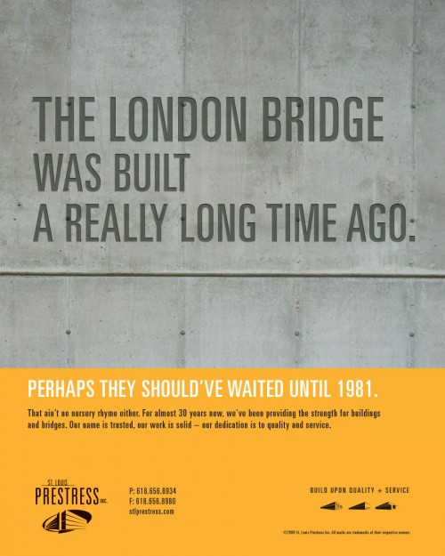 St. Louis Prestress ad - London Bridge