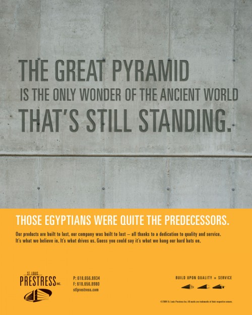 St. Louis Prestress ad - Great Pyramid