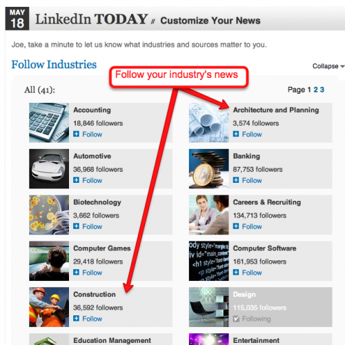 Customize your LinkedIn news feed