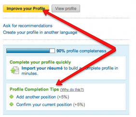 LinkedIn profile completion tips