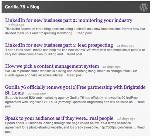 LinkedIn WordPress plug-in