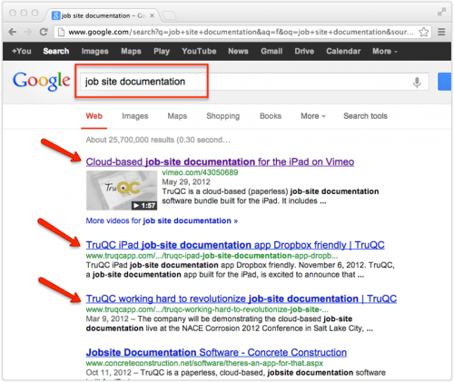 Create visibility in Google searches