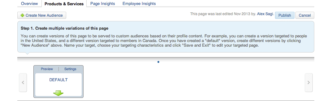 Target Audiences on LinkedIn Company Pages