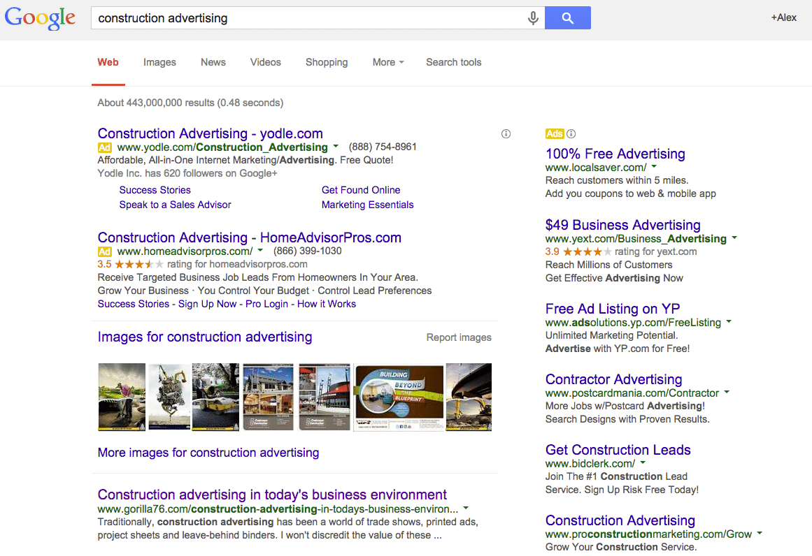Google search result showing SEO works for niche marketing