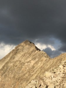 Weather moving in on Capital Peak