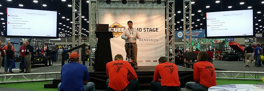 Demo stage at the ICUEE conference in Louisville, Kentucky