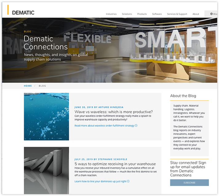 dematic blog