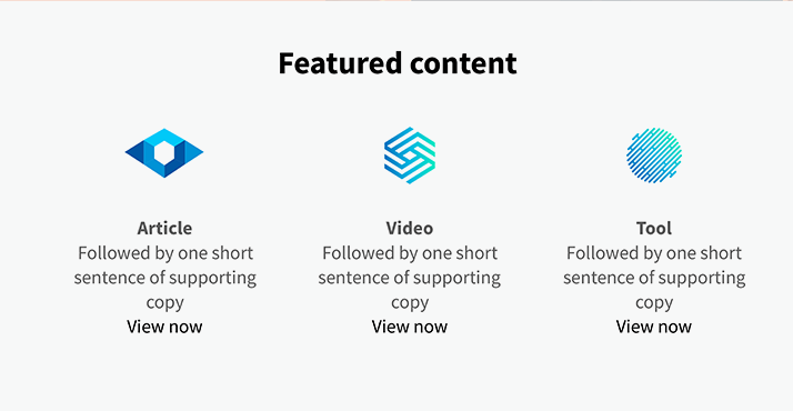 knowledge center featured content