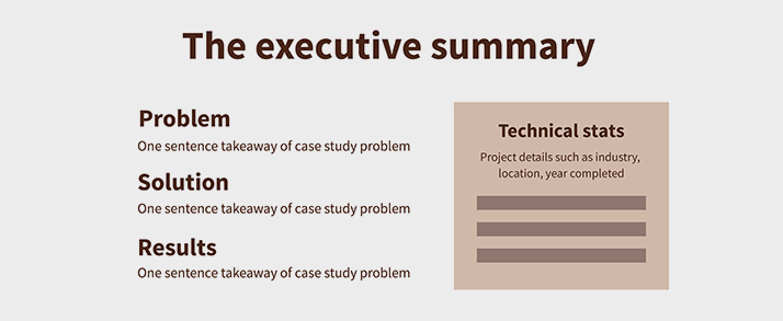 perfect case study executive summary