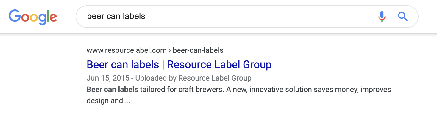beer can labels serp
